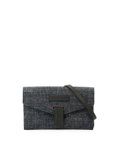 Denim Mini City Crossbody Bag