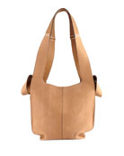 Snakeskin and Leather Hobo Tote Bag