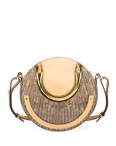 Pixie Small Sequined Round Shoulder Bag