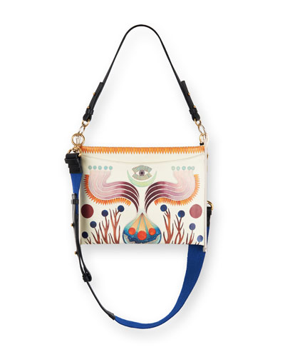 Roy Animal-Print Clutch Bag
