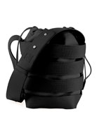 Cage Small Mixed Hobo Bag, Black