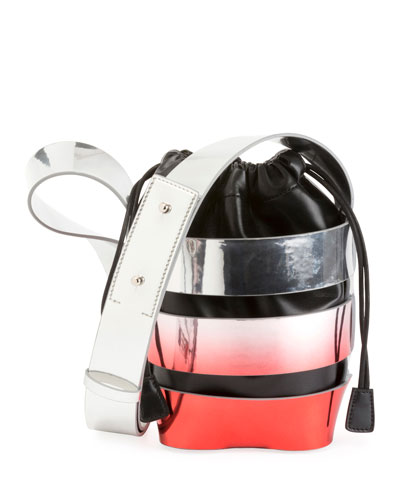 Cage Mini Ombré Hobo Bag
