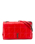 Jamie Medium Diamond-Quilted Double-Chain Shoulder Bag