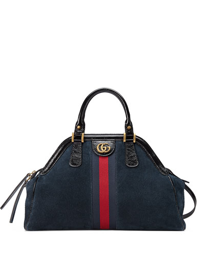 RE(BELLE) Large Suede Top Handle Bag
