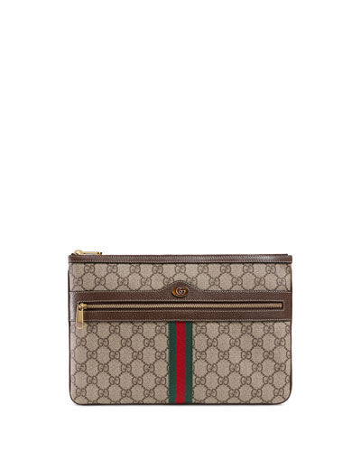 Ophidia Large GG Supreme Pouch Clutch Bag
