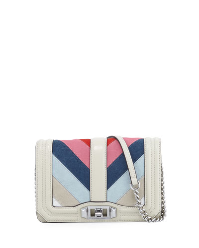 Love Small Chevron Patchwork Crossbody Bag