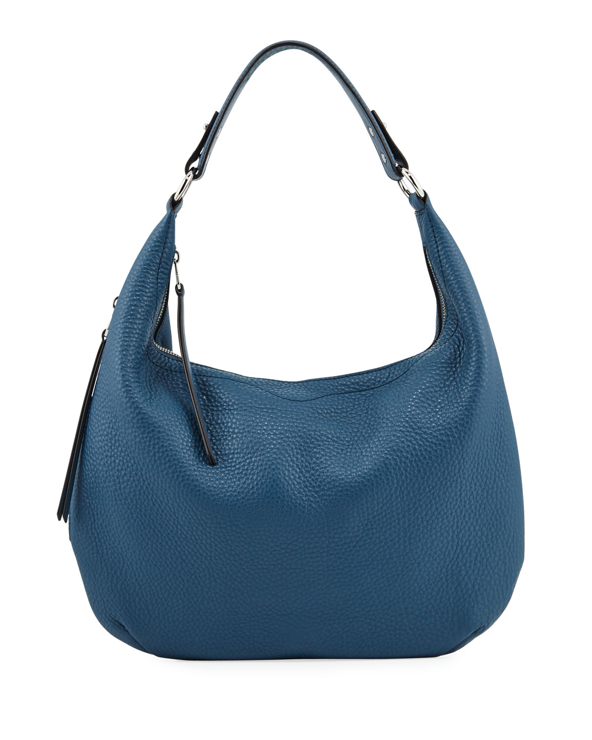 Michelle Pebbled Leather Hobo Bag