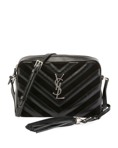 Lou Medium Chevron-Quilted Camera Shoulder Bag