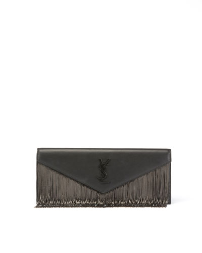 Le Sept Chain-Fringe Clutch Bag