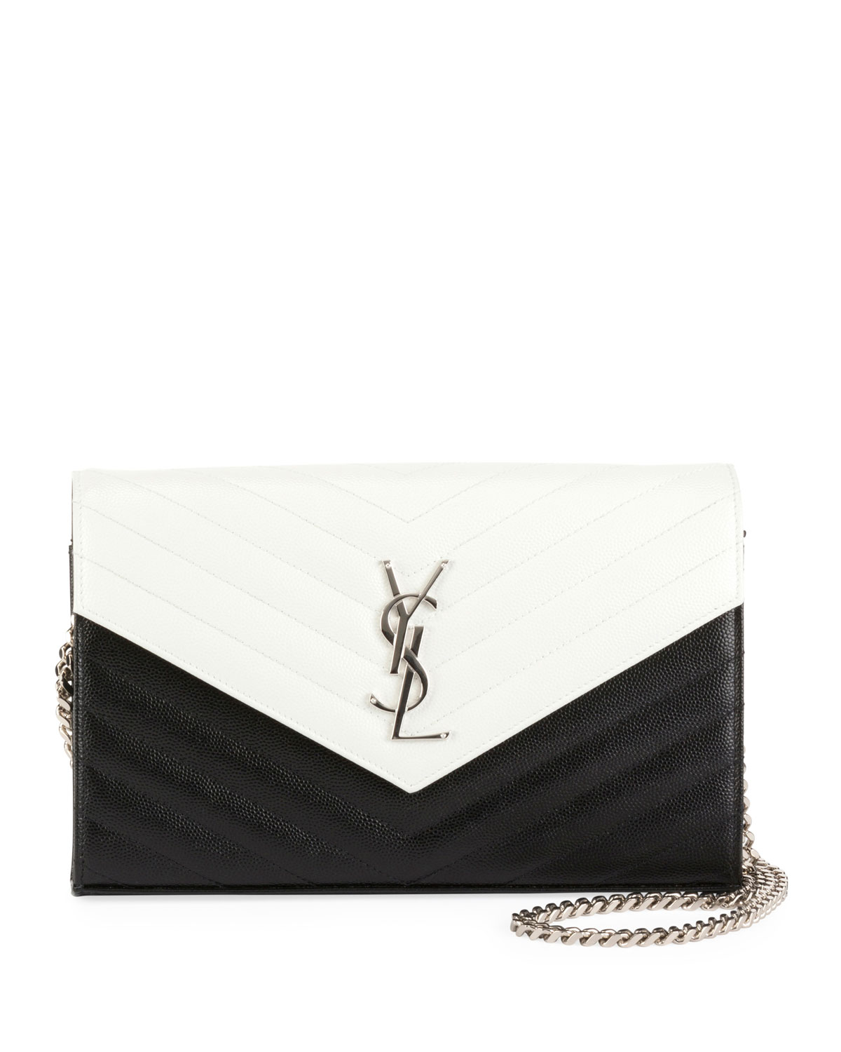Large Bicolor Wallet on Chain