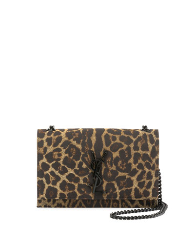Kate Monogram Small Leopard Jacquard Crossbody Bag