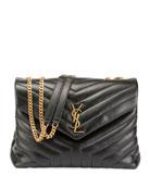 Loulou Monogram Medium Quilted V-Flap Chain Shoulder Bag