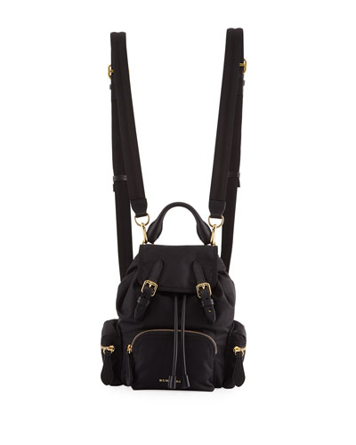 Prorsum Small Leather-Trim Nylon Rucksack Backpack