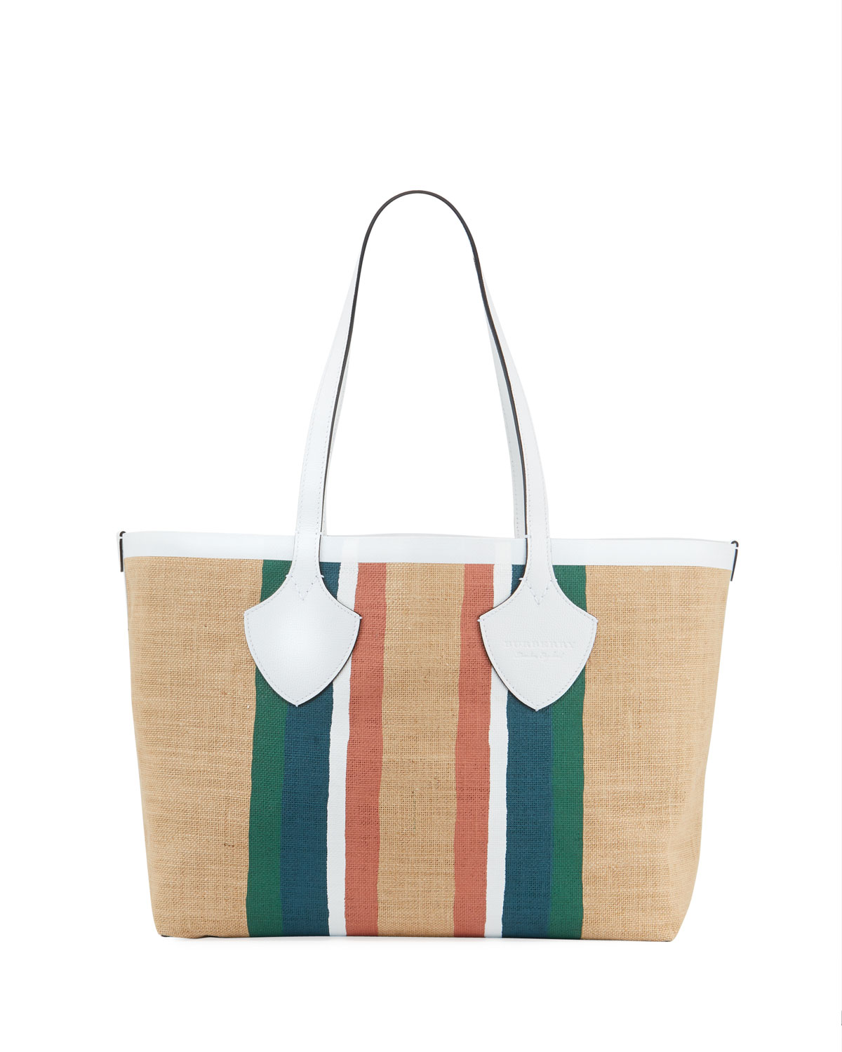 Jute Medium Striped Tote Bag