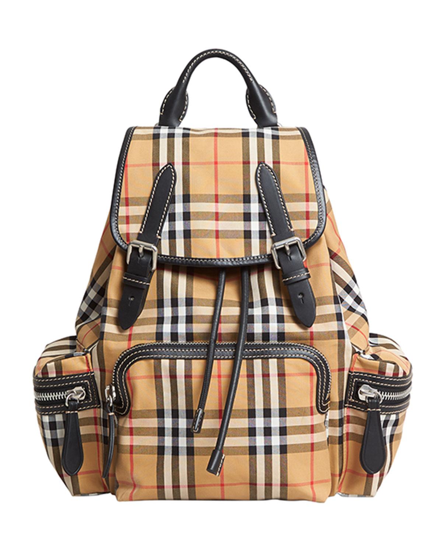 Small Rucksack Vintage Check Sailing Backpack