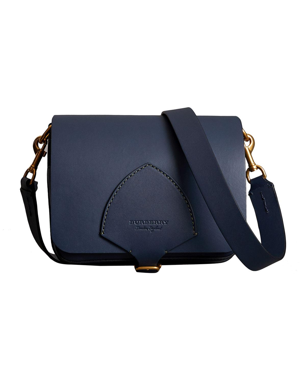 Square Calf Leather Satchel Bag