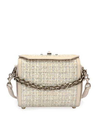 Box 19 Pebbled Tweed/Leather Crossbody Bag