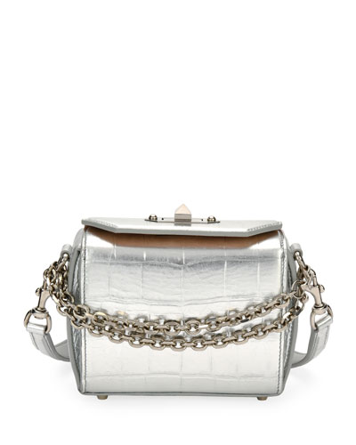 Box 16 Metallic Embossed Shoulder Bag