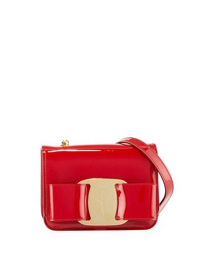 Vara Rainbow Patent Shoulder Bag