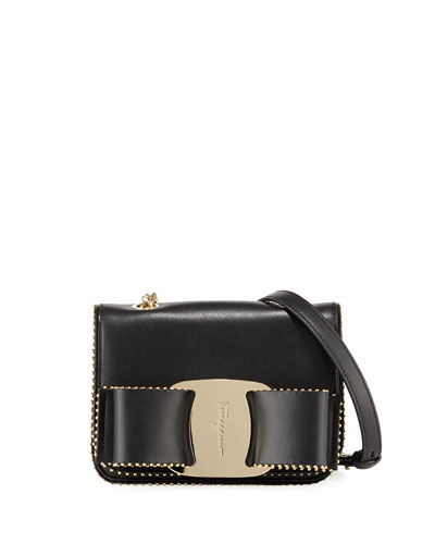 Vara Rainbow Studded Leather Shoulder Bag