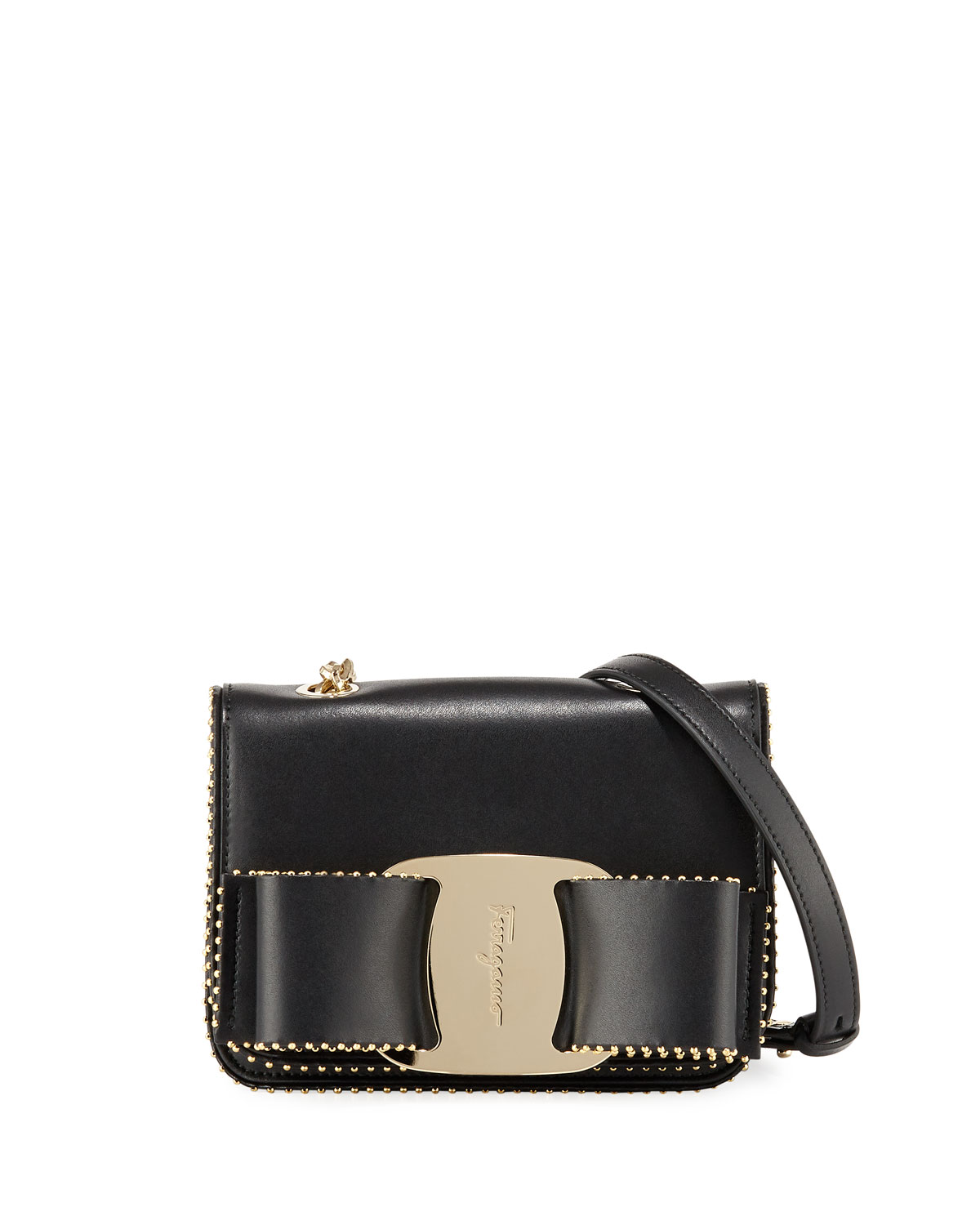 Vara Rainbow Studded Leather Shoulder Bag