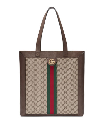 33ef59d7a1df Quick Look. Gucci · Ophidia GG Supreme Jacquard Striped Tote Bag