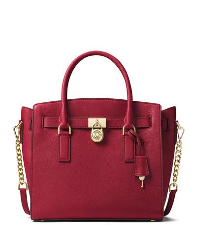 Hamilton Large East-West Leather Satchel Bag