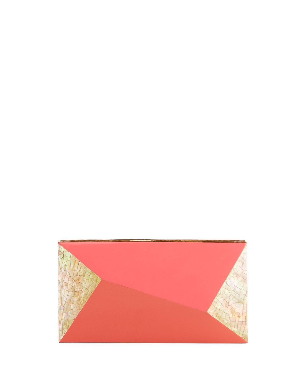 Melissa Rectangular Minaudiere Bag, Pink
