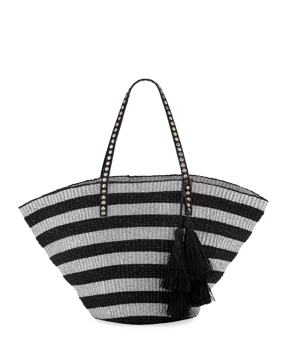 Sunni Large Straw Beach Tote Bag