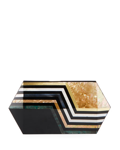 Rafe Annabelle Polygon Minaudiere Clutch Bag