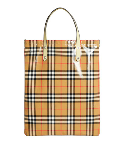 ff813c07779b Quick Look. Burberry · Coated Vintage Check Medium Shopper Tote Bag