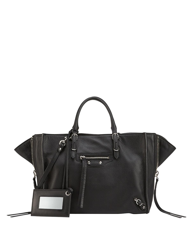 Papier A6 Zip Around Tote Bag, Black