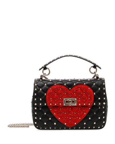 Spike.It Medium Quilted Heart Shoulder Bag