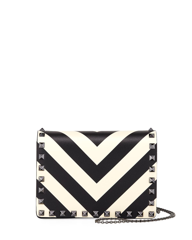 Rockstud V-Stripe Pouch Crossbody Bag