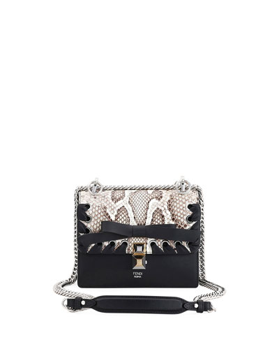 Kan I Small Calf Liberty and Python Shoulder Bag