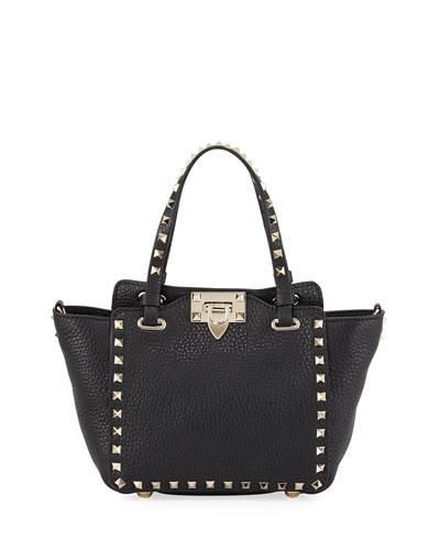 Rockstud Mini Vitello Leather Tote Bag