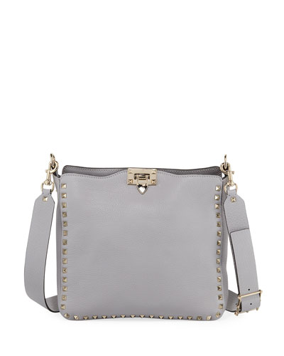 Rockstud Small Vitello Leather Hobo Bag