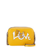 Ruby Lou Mini Love Calf Crossbody Bag