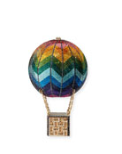 Judith Leiber Couture Rainbow Hot Air Balloon Crystal