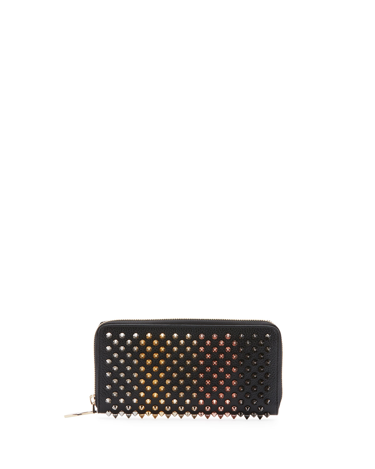 CHRISTIAN LOUBOUTIN PANETTONE SPIKED ZIP WALLET