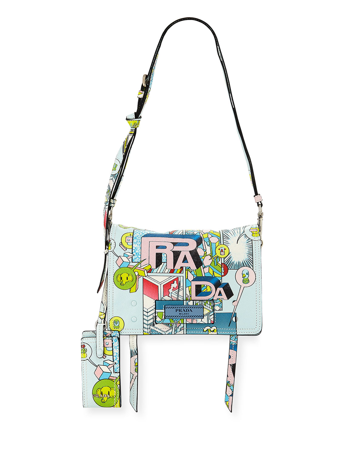 Etiquette Small Comic Print Shoulder Bag