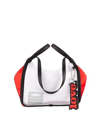 Colorblock Nylon Sport Tote Bag