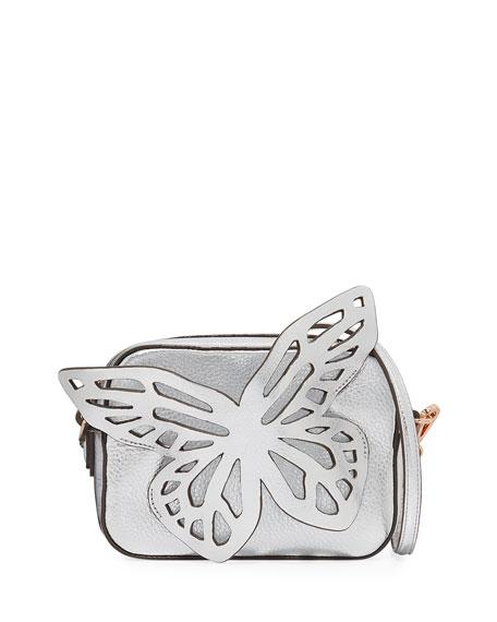 Sophia Webster Flossy Butterfly Metallic Leather Crossbody Camera Bag