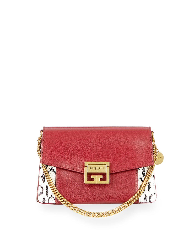 GV3 Small Goatskin Leather Satchel Bag