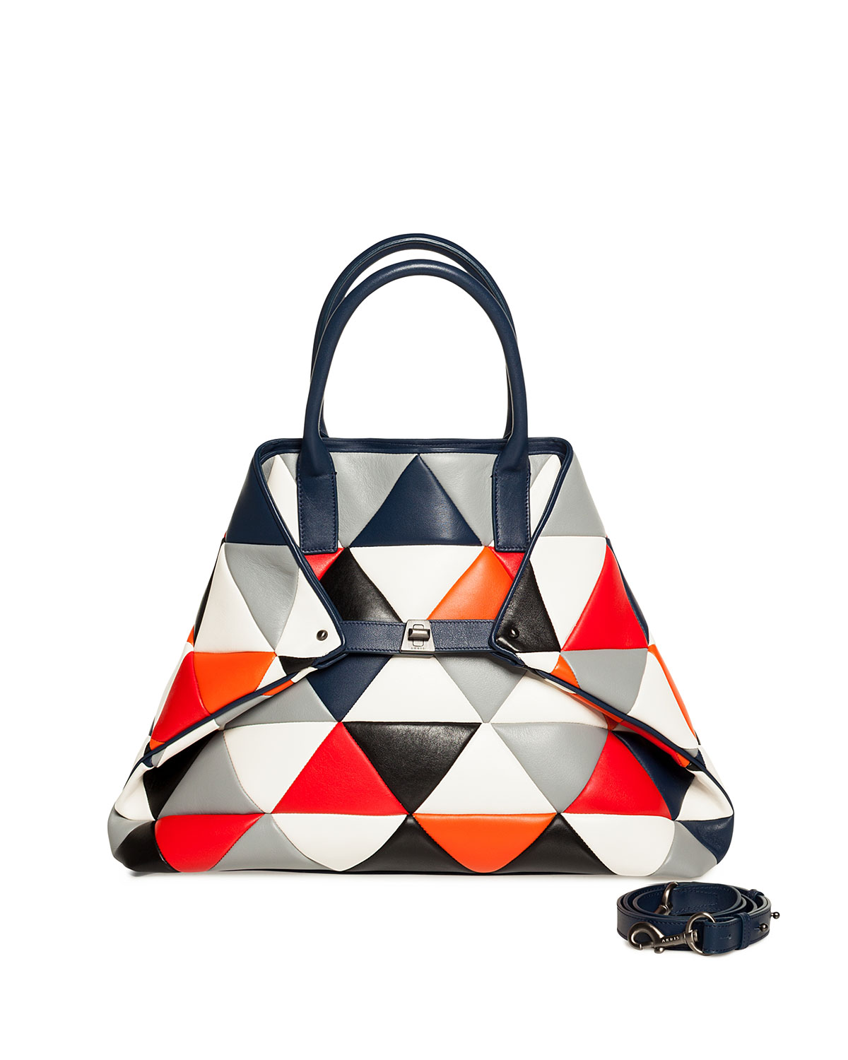 Ai Medium Multicolor Quilted Shoulder Bag in Multi Pattern