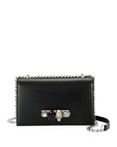 Jewelled Satchel Bag - Silvertone Hardware