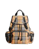 Burberry Vintage Medium Check Sailing Canvas Rucksack Backpack