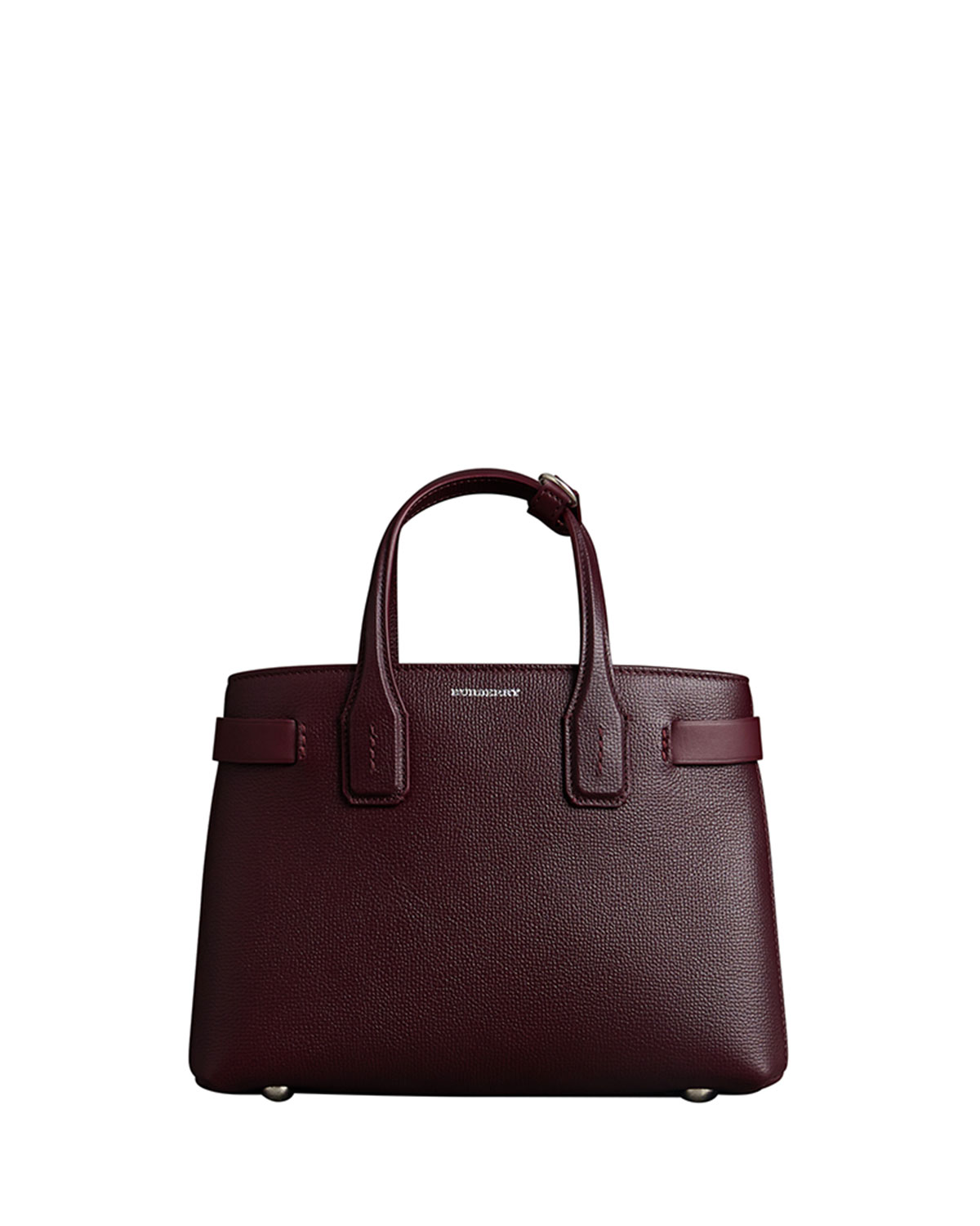 Derby Leather Small Banner Tote Bag