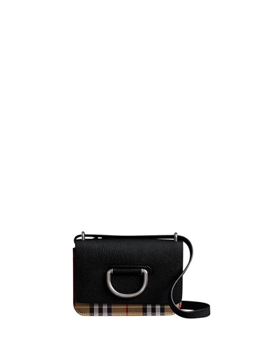 Mini D-Ring Check Crossbody Bag