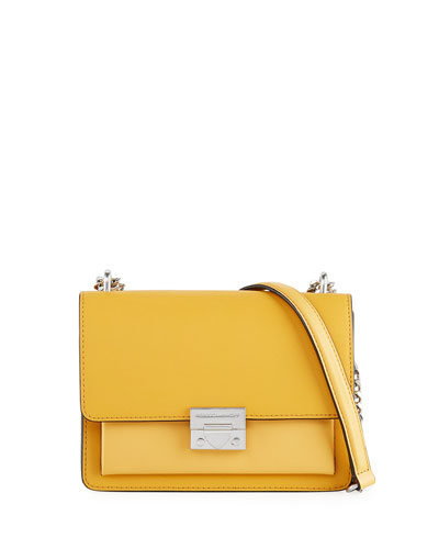 Christy Small Leather Flap Shoulder Bag